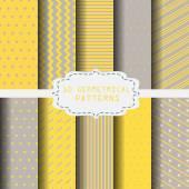 10 různých žluté a šedé vzory