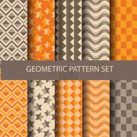 12 orange and brown geometric patterns