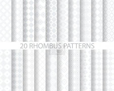 20 soft gray rhombus patterns
