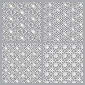 4  differents arabic pattern