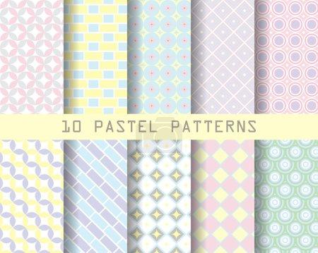 10 retro geometric patterns