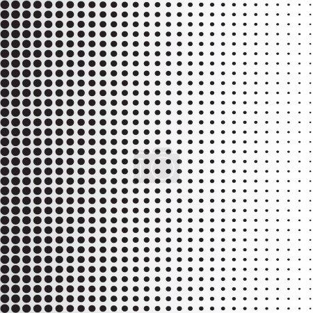 Illustration for Halftone dots background. Black dots on white background, vector, illustration - Royalty Free Image