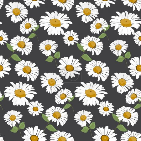 daisies seamless pattern