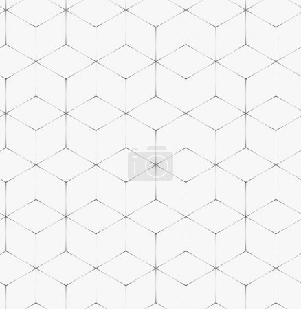 Illustration for Abstract linear seamless pattern, soft and geometric concept, Endless texture can be used for wallpaper, pattern fills, web page background,surface textures - Royalty Free Image