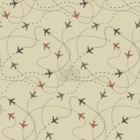 travel air plane seamless pattern, vector