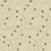 travel air plane seamless pattern vector