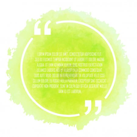 Illustration for Circle white quote on green background - Royalty Free Image