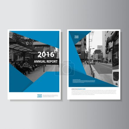Vector Leaflet Brochure Flyer template A4 size design, annual report book cover layout design, Abstract blue presentation templates