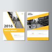 Yellow Leaflet Brochure Flyer template A4 size design annual report book cover layout design Abstract yellow presentation templates