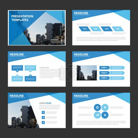 Polygon Blue Vector annual report Leaflet Brochure Flyer template design, book cover layout design, Abstract blue presentation templates