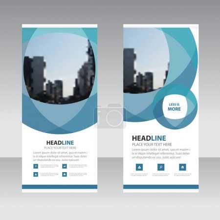 Illustration for Blue abstract circle Business Roll Up Banner flat design template ,Abstract Geometric banner template Vector illustration set, abstract presentation template - Royalty Free Image
