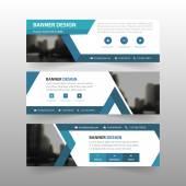 Modrý trojúhelník abstraktní podnikatelské šablona nápisu, horizontální, reklama podnikání nápisu rozložení šablony plochý design sady, čisté pozadí záhlaví abstraktní kryt pro web design