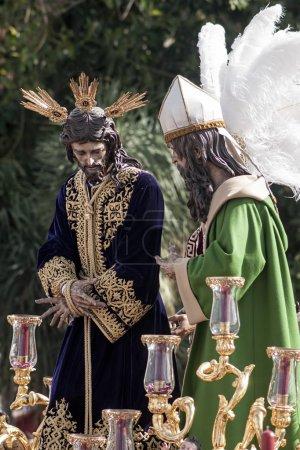 Foto de Misterio de la Hermandad de San Gonzalo por las calles de Sevilla en Semana Santa - Imagen libre de derechos