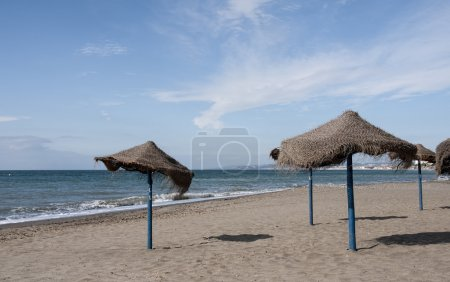 coast beaches of Estepona on the Costa del Sol, Spain