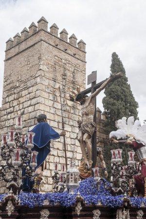 Foto de Procesión de la Hermandad del Cerro del Aguila en la semana Santa en Sevilla - Imagen libre de derechos