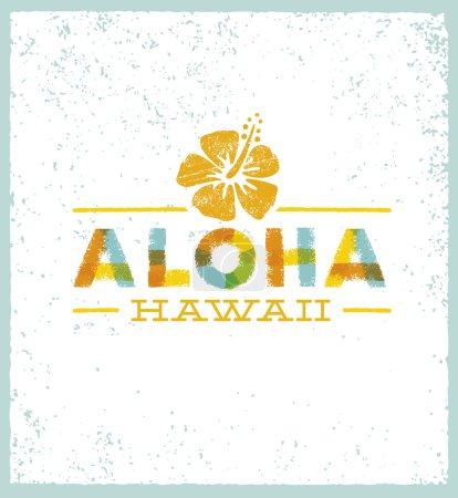 Aloha Hawaii Creative Design Element