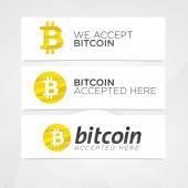 Bitcoin digital currency creative banners