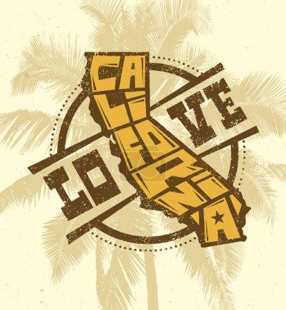 Love California Creative T-shirt Print