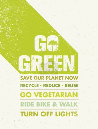 Go Green Motivation Poster