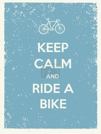 Keep Calm And Ride A Bike Quote