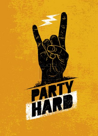 Party Hard Creative Motivation Banner