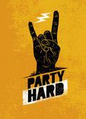 Party Hard Creative Motivation Banner
