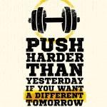 Постер, плакат: Workout Motivation Quote