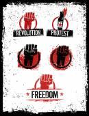 Revolution Fist Design Elements