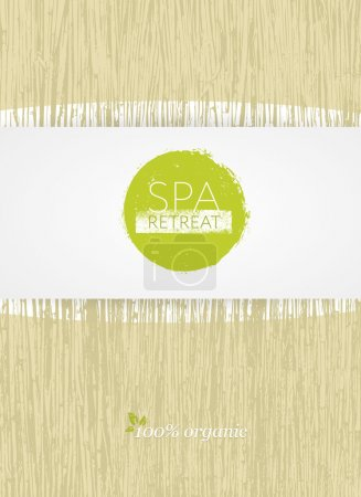 Illustration for Spa Retreat Organic Eco Background. Nature Friendly Vector Concept - Royalty Free Image