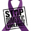 Stop Domestic Violence Stamp. Creative Vector Desi...