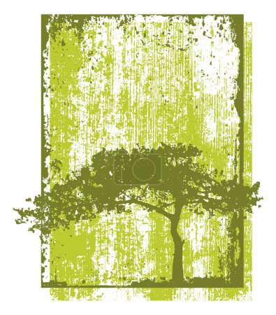Eco Tree Grunge Natural Concept