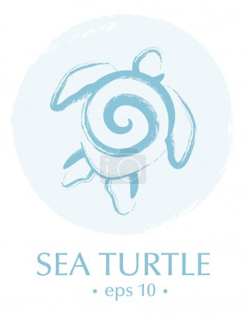 Sea Turtle Inside Circle Brush