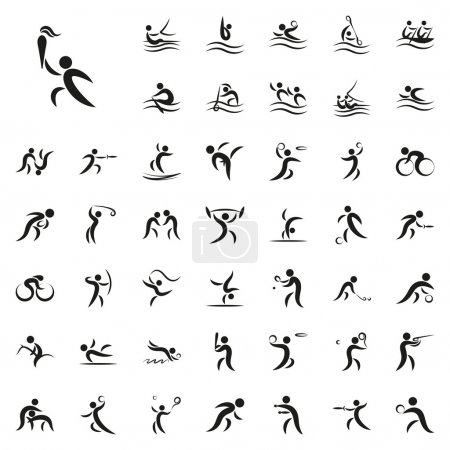 Vector illustration of summer sport games