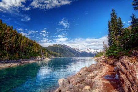 calm mountain lake