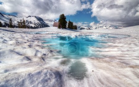 Brilliantly blue melt pool