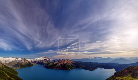 Amazing view of the lake below