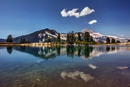 Agua cristalina del lago