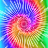 Tie Dye Colors Beautiful Realistic spiral tie-dye vector illustration