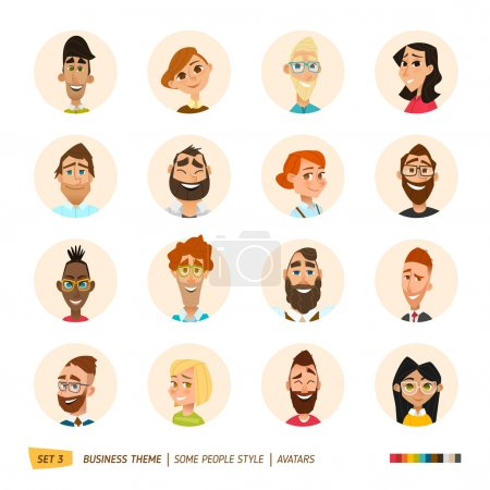 Illustration for People avatars collection. vector illustration - Royalty Free Image