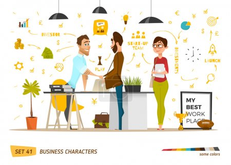 Business cartoon characters collection.