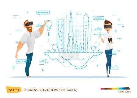 Illustration pour Innovation business style. travaux en cours pour la construction - image libre de droit