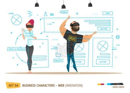 Illustration pour Innovation business style. Création d'un site web. Style d'innovation - image libre de droit