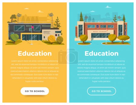 Two vertical banners for web design