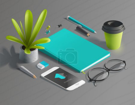 Mockup scenes on education theme