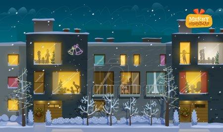 Beautiful night on Christmas day