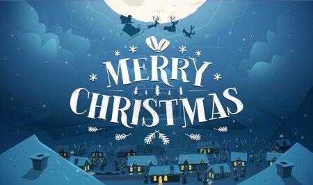 Illustration pour Joyeux Noël et bonne année carte - image libre de droit