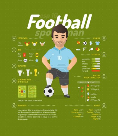 Football infographic signs