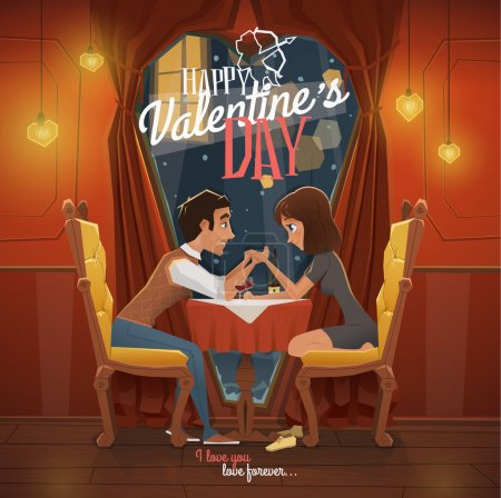 Illustration for Happy Valentines day vector illustration - Royalty Free Image