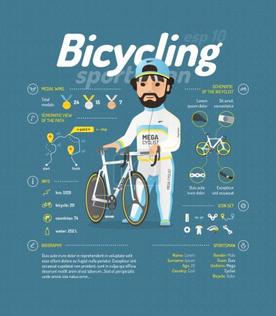Cycling infographic signs