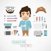 Funny Character designer man vector illustration